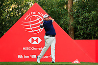 Shane Lowry (IRL) on the 9th tee during round 1 at the WGC HSBC Champions, Sheshan Golf Club, Shanghai, China. 31/10/2019.<br /> Picture Fran Caffrey / Golffile.ie<br /> <br /> All photo usage must carry mandatory copyright credit (© Golffile | Fran Caffrey)
