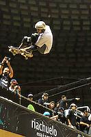 ATENCÃO EDITOR: FOTO EMBARGADA PARA VEICULO INTERNACIONAL - SÃO PAULO, SP, 30 SETEMBRO 2012 -  PRO RAD JUMP FESTIVAL - Final Skate Vertical Professional do Pro Rad Jump Festival Que teve o skater Rony Gomes (foto) como Italo Penarrubia em sexto colocado, o festival aconteceu no Ginásio do Ibirapuera no Ibirapuera na zona sul da capital paulista nesse domingo,30. (FOTO: LEVY RIBEIRO / BRAZIL PHOTO PRESS)