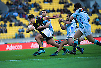Peter Umaga-Jensen scores during the Mitre 10 Cup rugby match between Wellington Lions and Northland Taniwha at Westpac Stadium in Wellington, New Zealand on Saturday, 28 September 2019. Photo: Dave Lintott / lintottphoto.co.nz