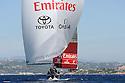 Louis Vuitton Trophy La Maddalena 3 giugno 2010. Emirates Team New Zealand non ha ancora vinto ma naviga sicuro col vento in poppa davanti alle isole di Santo Stefano Maddalena e Caprera