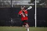 2013 March 02: Rustin Bryant #6 of the Maryland Terrapins during a game against the Duke Blue Devils at Koskinen Stadium in Durham, NC.  Maryland won 16-7.