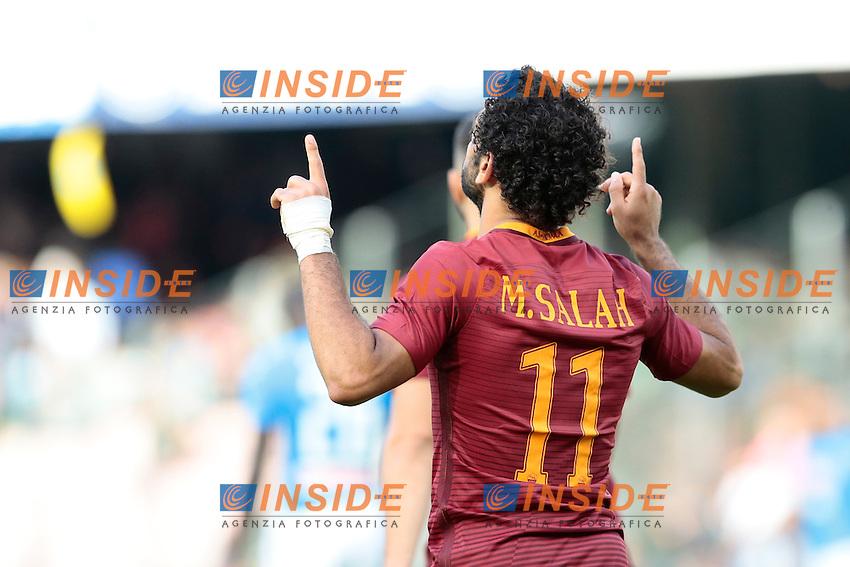 Mohamed Salah Roma,<br /> Napoli 15-10-2016  Stadio San Paolo <br /> Campionato Serie A Napoli - AS Roma <br /> Foto Cesare Purini / Insidefoto