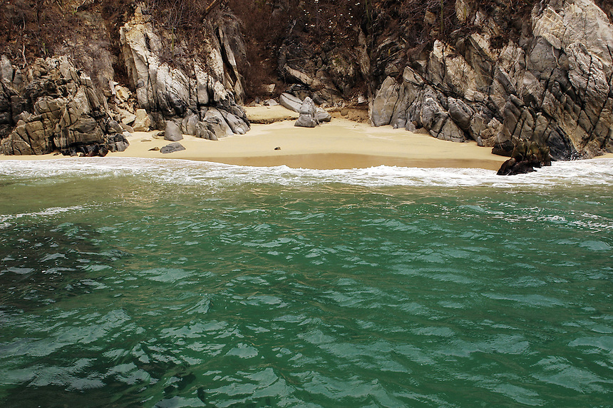 Cacaluta, Huatulco Oaxaca. Is the beach where Y Tu Mama Tambien was filmed.