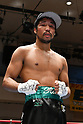 Rikki Naito (JPN),<br /> APRIL 10, 2017 - Boxing :<br /> Rikki Naito of Japan poses after winning the 8R lightweight bout at Korakuen Hall in Tokyo, Japan. (Photo by Hiroaki Yamaguchi/AFLO)