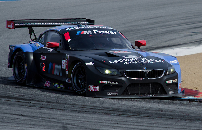 Monterey California, May 4, 2014, Laguna Seca Monterey Grand Prix, BMW Z4 GTE driven by Bill Auberlen drives to second place in the GT Le Mans catagory.