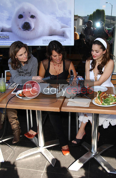 Emily Deschanel with Darcy Halsey and Gina Phillips<br />at the Los Angeles event for &quot;Save The Seals&quot;. Real Food Daily, West Los Angeles, CA. 03-28-07<br />Dave Edwards/DailyCeleb.com 818-249-4998