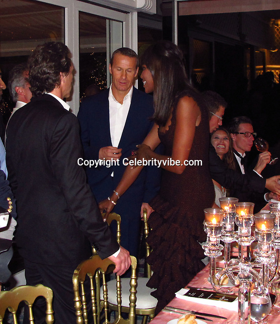 Laurence Bender, Vladimir Doronin and Naomi Campbell..2011 Cannes Film Festival..Eden Roc Restaurant at Hotel Du Cap..Cap D'Antibes, France..Tuesday, May 17, 2011..Photo By CelebrityVibe.com..To license this image please call (212) 410 5354; or.Email: CelebrityVibe@gmail.com ;.website: www.CelebrityVibe.com