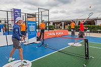 Den Bosch, Netherlands, 17 June, 2017, Tennis, Ricoh Open, Volley challenge<br /> Photo: Henk Koster/tennisimages.com