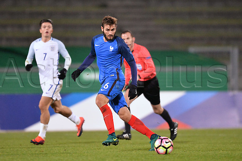 14.11.2016. bondoufle, Paris, France. U-21 International friendly football match, France versus England.  Lucas Tousart (fra)