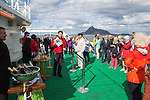 Celebration crossing the Arctic Circle heading south, Norway on Hurtigruten ferry