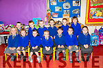 First Day for Mrs Rachel Wall's Junior Infants of LISSELTON N.S on Friday. Pictured front l-r Layla Kate Buckley, Kathie Prendergast, Emily O'Neill, Aimee Kissane, Aoife Hartnett, Satires Fogarty, Ruth Foley Back l-r Aaron Mulvihill, Jason Moriarty, Ciaran McNamara, Cormac Hartnett, James Nolan, Oisin Garvey, Missing Jack Houlihan