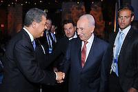 El presidente Leonel Fernández durante la conferencia de Facing Tomorrow, Israel