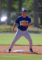 Los Angeles Dodgers minor leaguer Marshall McDougall during Spring Training at Dodgertown on March 22, 2007 in Vero Beach, Florida.  (Mike Janes/Four Seam Images)