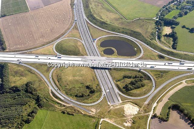 Deutschland, Schleswig- Holstein, Luebeck, Ostseeautobahn, A20, A1, Autobahnkreuz