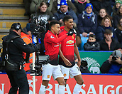 3rd February 2019, King Power Stadium, Leicester, England; EPL Premier League Football, Leicester City versus Manchester United; Marcus Rashford and Jesse Lingard of Manchester United celebrate the opening goal in the 9th minute scored by Rashford