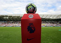 The official matchball prior to the Premier League match between Swansea City and Chelsea at The Liberty Stadium on September 11, 2016 in Swansea, Wales.