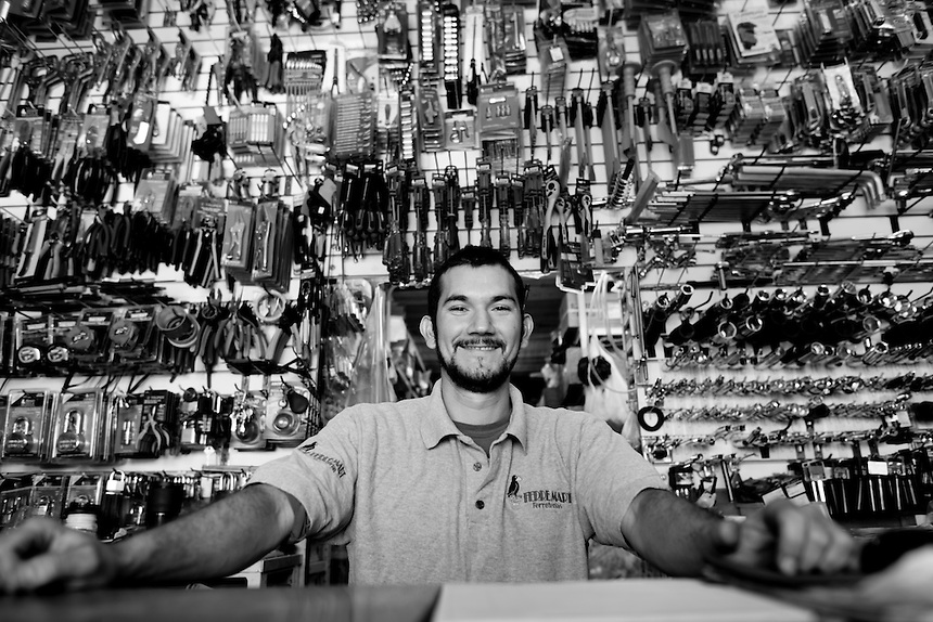 Noe Payan Fontes. Hardware store owners in Culiacan, Sinaloa,  Mexico