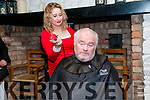 Fundraiser: John Gleeson having his hair & beard shaved off by hair dresser Rita Maunsell at McCarthy's Bar, Finuge in a shave & dye event in aid of Recovery Haven on Saturday night last.