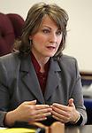 Nevada Sen. Allison Copening, D-Las Vegas, works in her office at the Legislature in Carson City, Nev. on Friday, Feb. 25, 2011. .Photo by Cathleen Allison