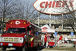 31 October 2004: Chiefs fans tailgate before the game. The Kansas City Chiefs defeated the Indianapolis Colts 45-35 at Arrowhead Stadium in Kansas City, MO in a regular season National Football League game..