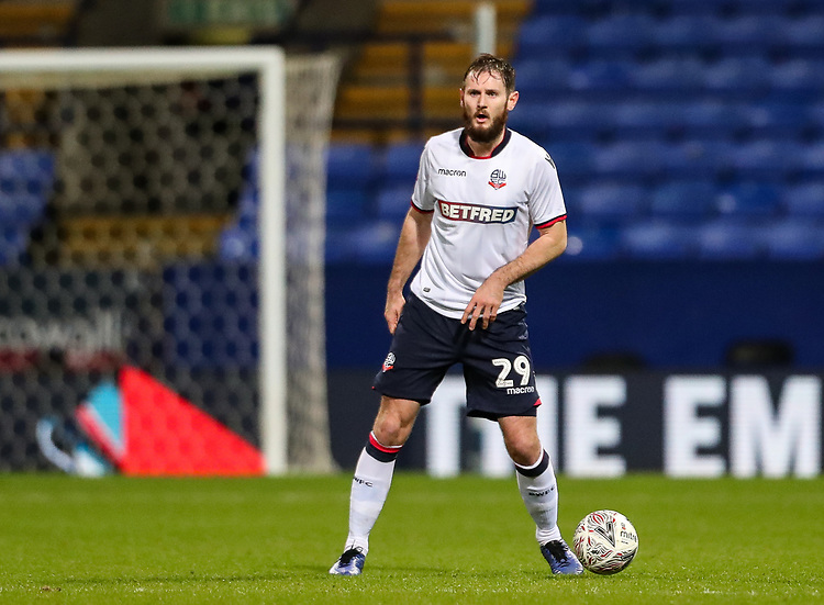 Bolton Wanderers' Jonathan Grounds<br /> <br /> Photographer Andrew Kearns/CameraSport<br /> <br /> Emirates FA Cup Third Round - Bolton Wanderers v Walsall - Saturday 5th January 2019 - University of Bolton Stadium - Bolton<br />  <br /> World Copyright © 2019 CameraSport. All rights reserved. 43 Linden Ave. Countesthorpe. Leicester. England. LE8 5PG - Tel: +44 (0) 116 277 4147 - admin@camerasport.com - www.camerasport.com