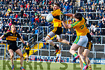Shane Murphy, Dr Crokes in action against Jack Daly, South Kerry  during the Semi finals of the Kerry Senior GAA Football Championship between Dr Crokes and South Kerry at Fitzgerald Stadium on Sunday.