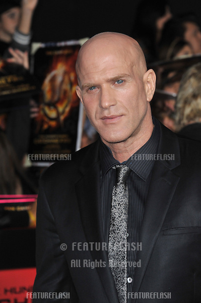 Bruno Gunn at the US premiere of his movie &quot;The Hunger Games: Catching Fire&quot; at the Nokia Theatre LA Live.<br /> November 18, 2013  Los Angeles, CA<br /> Picture: Paul Smith / Featureflash