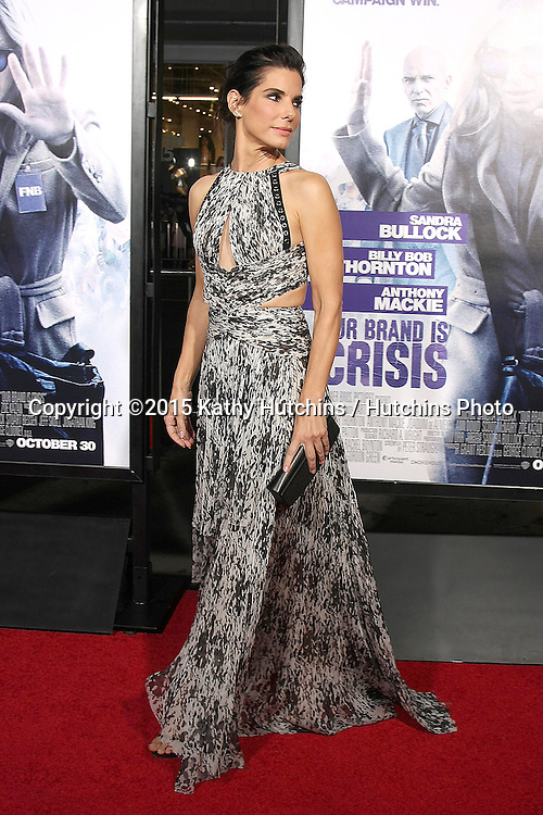 """LOS ANGELES - OCT 26:  Sandra Bullock at the """"Our Brand is Crisis"""" LA Premiere at the TCL Chinese Theater on October 26, 2015 in Los Angeles, CA"""
