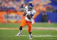Jan. 4, 2010; Glendale, AZ, USA; Boise State Broncos running back (27) Jeremy Avery runs the ball in the first quarter against the TCU Horned Frogs in the 2010 Fiesta Bowl at University of Phoenix Stadium. Mandatory Credit: Mark J. Rebilas-