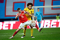 Axel Witsel midfielder of Belgium, Aleksei Miranchuk midfielder of Russia Picture of Belgian team  <br /> Saint Petersbourg  - Qualification Euro 2020 - 16/11/2019 <br /> Russia - Belgium <br /> Foto Photonews/Panoramic/Insidefoto <br /> ITALY ONLY