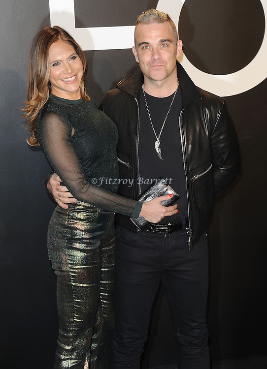 Robbie Williams and Ayda Field arriving at the Tom Ford Autumn/Winter 2015 Womenwears Collection held at Milk Studios Los Angeles, CA. February 20, 2015.
