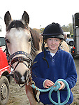 Aoife Clerkin and Dusty who took part in the Holly's Horse Haven charity Trek at Piperstown Equestrian Centre. Photo:Colin Bell/pressphotos.ie