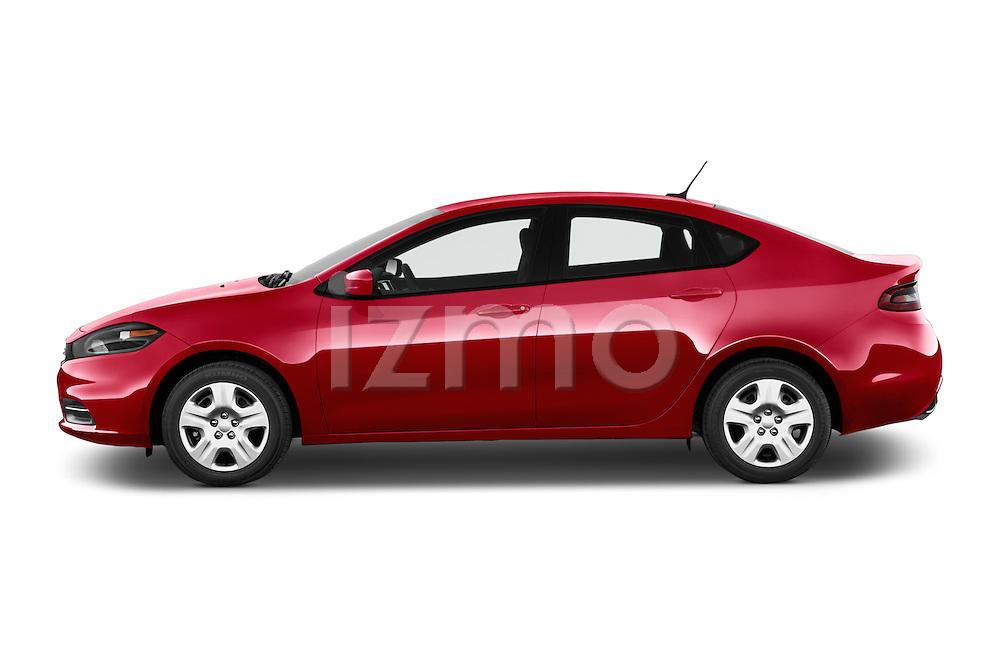 Car Driver side profile view of a 2015 Dodge Dart SE 4 Door Sedan Side View