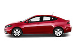 Car Driver side profile view of a 2015 Dodge Dart SE 4 Door Sedan Side View