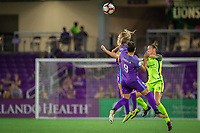 Orlando, FL - Thursday September 07, 2017: Rachel Hill, Camila Martins Pereira, Carson Pickett during a regular season National Women's Soccer League (NWSL) match between the Orlando Pride and the Seattle Reign FC at Orlando City Stadium.