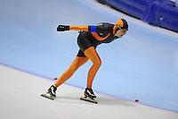 SCHAATSEN: HEERENVEEN: Thialf, 4th Masters International Speed Skating Sprint Games, 25-02-2012, Ria Slikker (F60) 1st, ©foto: Martin de Jong