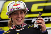 Rachel Atherton UCI World Cup downhill event  ,  Fort William, Scotland ,  June  2012 pic copyright Steve Behr / Stockfile