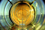 The Light bulb inside a lighthouse fresnel