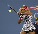 Serena Williams (USA) defeats Taylor Townsend (USA) 6-3, 6-1