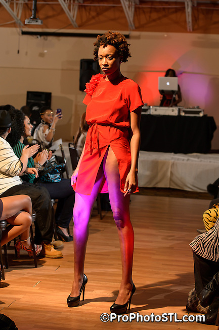 "Second annual ""She is Queen"" Charity Fashion Show at Bridgeton Banquet Center in St. Louis, MO on Dec 17, 2012."