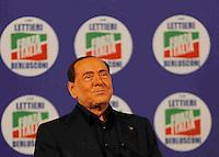 Manifestazione elettorale di Forza Italia a sostegno del candidato sindaco del centrodestra nelle prossime elezioni amministrative<br /> Silvio Berlusconi