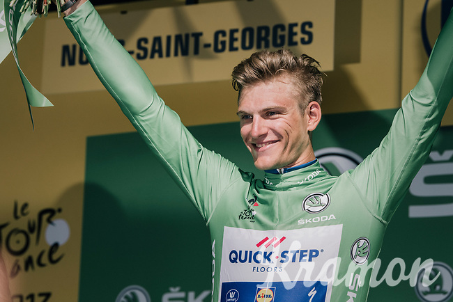 Marcel Kittel (DEU/QuickStep Floors) wins his 3rd stage in this Tour and regains the green jersey<br /> <br /> 104th Tour de France 2017<br /> Stage 7 - Troyes &rsaquo; Nuits-Saint-Georges (214km)
