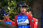 WNT-Rotor Pro Cycling at sign on before the Strade Bianche Women Elite 2019 running 133km from Siena to Siena, held over the white gravel roads of Tuscany, Italy. 9th March 2019.<br /> Picture: Eoin Clarke | Cyclefile<br /> <br /> <br /> All photos usage must carry mandatory copyright credit (© Cyclefile | Eoin Clarke)
