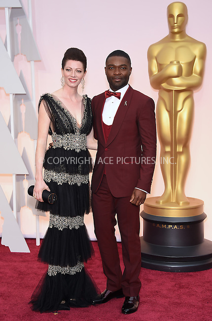 WWW.ACEPIXS.COM<br /> <br /> February 22 2015, LA<br /> <br /> David Oyelowo and Jessica Oyelowo arriving at the 87th Annual Academy Awards at the Hollywood &amp; Highland Center on February 22, 2015 in Hollywood, California<br /> <br /> <br /> By Line: Z15/ACE Pictures<br /> <br /> <br /> ACE Pictures, Inc.<br /> tel: 646 769 0430<br /> Email: info@acepixs.com<br /> www.acepixs.com
