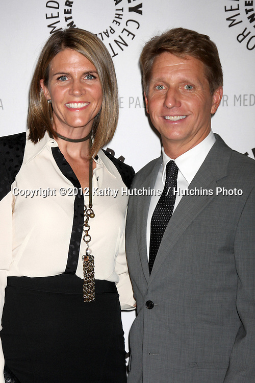 """LOS ANGELES - AUG 23:  Colleen Bell, Bradley Bell arrives at """"The Young & Restless"""": Celebrating 10,000 Episodes at Paley Center for Media on August 23, 2012 in Beverly Hills, CA"""