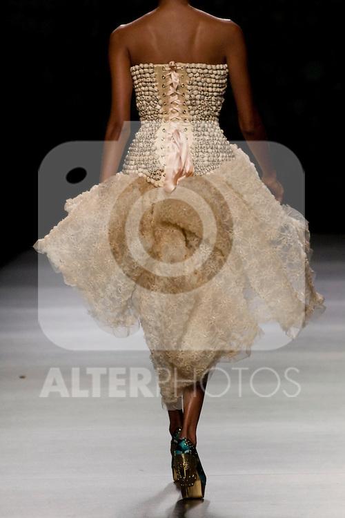 02.09.2012. Models walk the runway in the Maya Hansen fashion show during the Mercedes-Benz Fashion Week Madrid Spring/Summer 2013 at Ifema. (Alterphotos/Marta Gonzalez)