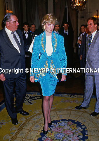 "PRINCE CHARLES AND PRINCESS DIANA SPANISH TOUR 1987.Princess Diana attends a fashion show at the Ritz Hotel, Madrid_April 1987..Mandatory Credit Photo: ©Francis Dias/NEWSPIX INTERNATIONAL..**ALL FEES PAYABLE TO: ""NEWSPIX INTERNATIONAL""**..IMMEDIATE CONFIRMATION OF USAGE REQUIRED:.Newspix International, 31 Chinnery Hill, Bishop's Stortford, ENGLAND CM23 3PS.Tel:+441279 324672  ; Fax: +441279656877.Mobile:  07775681153.e-mail: info@newspixinternational.co.uk"