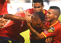 BARRANQUILLA - COLOMBIA -20-12-2014: Universidad Autonoma gano la promoción al vencer al Deportes Quindio durante partido Universidad Autonoma y Deportes Quindio por la Promocion 2014, jugado en el estadio Metropolitano Roberto Melendez de la ciudad de Barranquilla.  / Universidad Autonoma won promotion to win the match against Deportes Quindio during a match between Universidad Autonoma and Deportes Quindio for the date Promotion 2014 at the Metropolitano Roberto Melendez stadium in Barranquilla city. Photo: VizzorImage  / Alfonso Cervantes / Str.