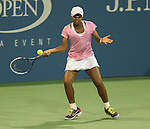 Victoria Duval (USA) loses to Daniela Hantuchova (SVK), 6-2, 6-3 at the US Open being played at USTA Billie Jean King National Tennis Center in Flushing, NY on August 29, 2013