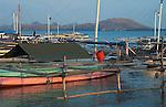 Fishing boats, Papagaran island, Komodo National Park